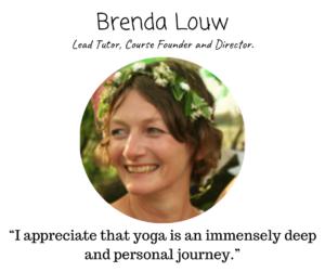 Yoga teacher brenda louw