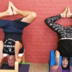 Having fun in yoga after applying