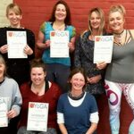 Successful yoga students after completing 300 hr teacher training course