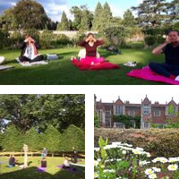 Image of outdoor Yoga at kentwell hall