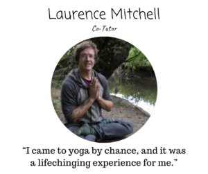 Yoga teacher laurence mitchell